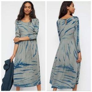 Anthropologie Dolan Eliska Tie Dye Maxi Dress